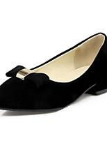 Недорогие -Жен. Обувь Замша Весна Удобная обувь Обувь на каблуках На толстом каблуке Черный / Бежевый / Красный