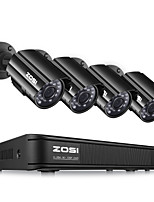 cheap -ZOSI 4CH HD-TVI 720P DVR with 4 PCS HD 1280TVL Indoor/Outdoor Weatherproof CCTV Cameras