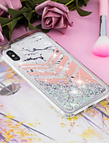 billiga -fodral Till Apple iPhone X / iPhone 8 Plus Flytande vätska / Mönster / Glittrig Skal Marmor Mjukt TPU för iPhone X / iPhone 8 Plus / iPhone 8