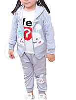 billiga -Bebis Flickor Enfärgad Långärmad Klädesset