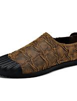 Недорогие -Муж. Комфортная обувь Полиуретан Весна Мокасины и Свитер Черный / Коричневый / Хаки