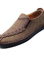 Недорогие -Муж. Комфортная обувь Полиуретан Осень Мокасины и Свитер Черный / Кофейный / Коричневый
