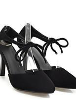 Недорогие -Жен. Комфортная обувь Микроволокно Весна Обувь на каблуках На шпильке Черный / Бежевый / Красный