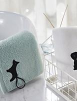 abordables -Qualité supérieure Serviette, Géométrique Polyester / Coton Salle de  Bain 2 pcs