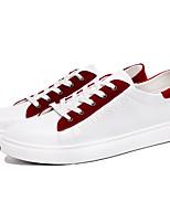 Недорогие -Муж. Комфортная обувь Кожа Весна / Лето Кеды Черный / Красный