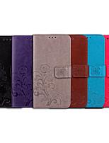 billiga -fodral Till Apple iPhone 5-fodral Korthållare / Lucka Fodral Enfärgad / Mandala Mjukt PU läder för iPhone SE / 5s / iPhone 5