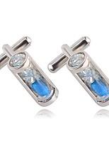 baratos -Irregular Branco / Azul Botões de Punho Liga Fashion Homens Jóias de fantasia Para Diário / Escritório e Carreira