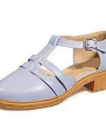 Недорогие -Жен. Полиуретан Весна На каждый день Обувь на каблуках На толстом каблуке Белый / Синий