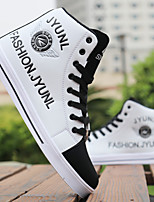 Недорогие -Муж. Fashion Boots Полиуретан Весна лето Кеды Сапоги до середины икры Белый / Черный / Желтый