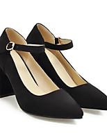 Недорогие -Жен. Обувь Замша Весна Удобная обувь Обувь на каблуках На толстом каблуке Черный / Серый / Розовый