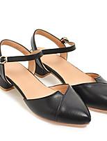 Недорогие -Жен. Искусственная кожа Лето На каждый день Обувь на каблуках На толстом каблуке Белый / Черный / Розовый