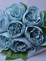 Недорогие -Искусственные Цветы 7 Филиал Классический / Односпальный комплект (Ш 150 x Д 200 см) Стиль / Пастораль Стиль Пионы Букеты на стол