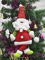 Недорогие -Рождественские украшения Праздник Хлопковая ткань Квадратный Мультипликация Рождественские украшения