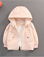 cheap -Toddler Girls' Basic Solid Colored Long Sleeve Jacket & Coat