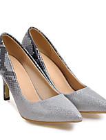 baratos -Mulheres Sapatos Confortáveis Couro Ecológico Primavera Saltos Salto Agulha Cinzento / Azul / Rosa claro