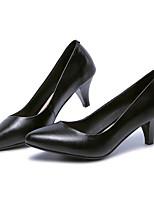 Недорогие -Жен. Комфортная обувь Наппа Leather Весна Обувь на каблуках На шпильке Черный