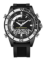 cheap -SANDA Men's Sport Watch / Digital Watch Japanese Calendar / date / day / Water Resistant / Water Proof / Stopwatch Rubber Band Luxury / Fashion Black / White / Khaki