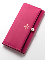 cheap -Women's Bags PU(Polyurethane) Wallet Zipper Fuchsia / Light Purple / Light Grey