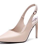 abordables -Femme Chaussures Polyuréthane Printemps été A Bride Arrière Chaussures à Talons Talon Aiguille Bout pointu Noir / Amande
