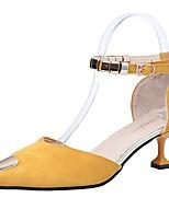 Недорогие -Жен. Полиуретан Лето Туфли лодочки Обувь на каблуках На каблуке-рюмочке Заостренный носок Черный / Желтый / Зеленый / Для вечеринки / ужина