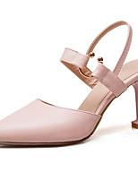 abordables -Femme Chaussures de confort Polyuréthane Eté Chaussures à Talons Talon Aiguille Blanc / Noir / Rose