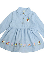 cheap -Toddler Girls' Animal Long Sleeve Dress