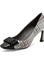 Недорогие -Жен. Комфортная обувь Наппа Leather Осень Обувь на каблуках На шпильке Черный / Коричневый