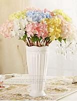 Недорогие -Искусственные Цветы 3 Филиал Классический / Односпальный комплект (Ш 150 x Д 200 см) Стиль / Пастораль Стиль Гортензии Букеты на стол