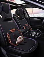 cheap -ODEER Car Seat Covers Seat Covers Black Textile Cartoon / Common For universal All years All Models