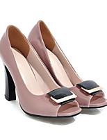 Недорогие -Жен. Комфортная обувь Полиуретан Весна Обувь на каблуках На шпильке Черный / Розовый
