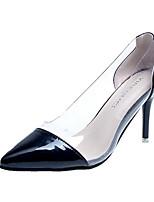 Недорогие -Жен. Комфортная обувь Полиуретан Лето Обувь на каблуках На шпильке Белый / Черный / Красный