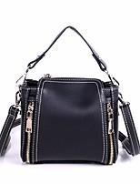 cheap -Women's Bags PU(Polyurethane) Tote Zipper Black / Blushing Pink