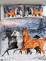 preiswerte -Bettbezug-Sets 3D Polyester Reaktivdruck 3 Stück / 3-teilig (1 Bettbezug, 2 Kissenbezüge)