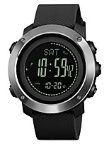 cheap -SKMEI Men's Women's Sport Watch Military Watch Japanese Digital 30 m Water Resistant / Water Proof Alarm Calendar / date / day PU Band Digital Casual Fashion Black / Green - Black Green One Year