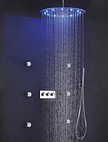 Недорогие -Смеситель для душа - Современный Хром / Матовый Душевая система Керамический клапан