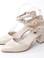 Недорогие -Жен. Обувь Наппа Leather Весна лето Удобная обувь Обувь на каблуках На толстом каблуке Черный / Бежевый / Розовый