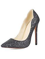 abordables -Femme Chaussures de confort Toile de jean Printemps Chaussures à Talons Talon Aiguille Or / Noir