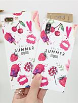 economico -Custodia Per Apple iPhone X / iPhone 8 Effetto ghiaccio / Fantasia / disegno Per retro Sexy Morbido TPU per iPhone X / iPhone 8 Plus / iPhone 8