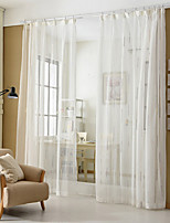cheap -Sheer Curtains Shades Bedroom Stripe Polyester Jacquard