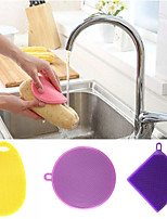 cheap -Kitchen Cleaning Supplies Silicon Cleaning Brush & Cloth Simple / Universal / Tools 3pcs