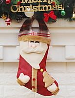 abordables -Medias de Navidad Dibujos Poliéster Cuadrado Dibujos animados Decoración navideña