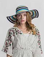 cheap -Women's Basic Straw Hat - Print