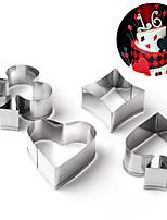 Недорогие -Инструменты для выпечки Нержавеющая сталь Cool / Креатив / Своими руками Печенье Формы для пирожных 4шт