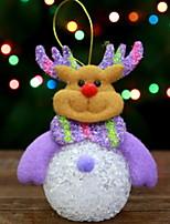 economico -Statuine natalizie Vacanza Stoffa (cotone) Quadrato Cartoni animati / Originale Decorazione natalizia