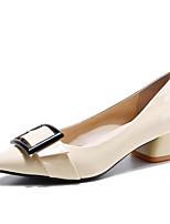 Недорогие -Жен. Обувь Лакированная кожа Весна Туфли лодочки Обувь на каблуках На толстом каблуке Черный / Винный / Миндальный