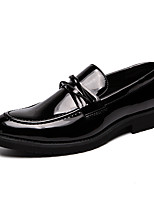 Недорогие -Муж. Официальная обувь Искусственная кожа Весна & осень Английский Мокасины и Свитер Черный / Свадьба / Для вечеринки / ужина