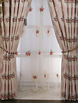 cheap -Sheer Curtains Shades Living Room Contemporary Cotton / Polyester Embroidery