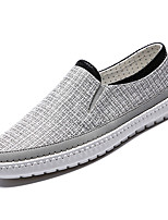 cheap -Men's Canvas / Linen Summer Comfort Loafers & Slip-Ons Color Block Beige / Gray / Blue
