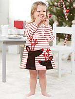 cheap -Kids / Toddler Girls' Striped Short Sleeve Dress