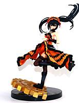baratos -Figuras de Ação Anime Inspirado por Date A Live Kurumi Tokisaki PVC 22 cm CM modelo Brinquedos Boneca de Brinquedo